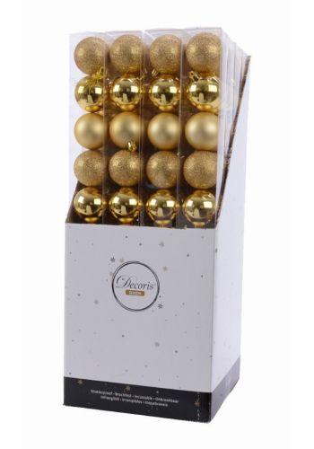 Χριστουγεννιάτικες Μπάλες Χρυσές - Σετ 10 τεμ. (6cm)