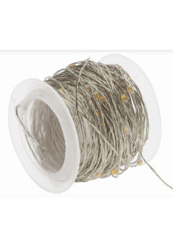 80 Λευκά Θερμά Φωτάκια LED Copper Εξωτερικού Χώρου (8m)