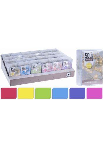 50 Φωτάκια LED Μπαταρίας - 6 Χρώματα (5m)