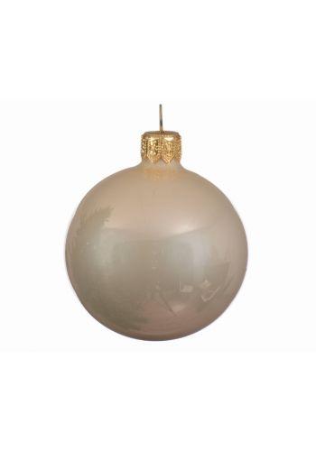 Χριστουγεννιάτικη Μπάλα Οροφής Γυάλινη Σαμπανιζέ Γυαλιστερή (15cm)