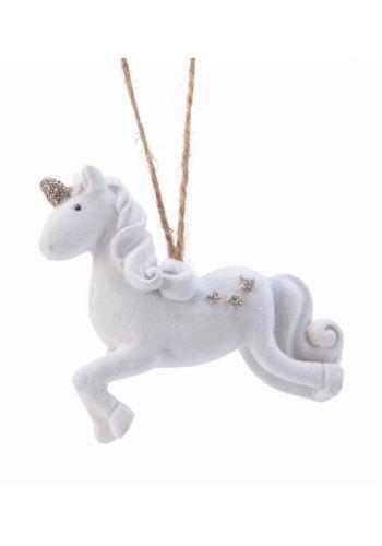Χριστουγεννιάτικος Μονόκερως Λευκός (8cm)
