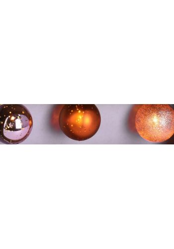 10 Λαμπάκια LED Μπαταρίας με Ροζ Μπαλίτσες