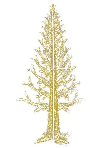 Χριστουγεννιάτικο Φωτιζόμενο Δέντρο CRYSTAL GOLD με 1368 Flash LED (4m)