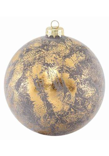 Χριστουγεννιάτικη Μπάλα Χρυσή Αντικέ (12cm)