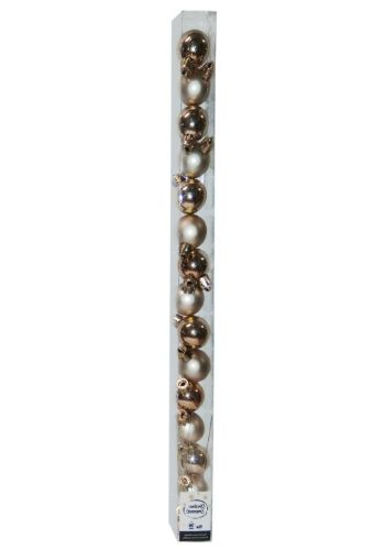 Χριστουγεννιάτικες Μπάλες Ροζ - Σετ 15 τεμ. (3cm)
