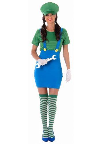 Αποκριάτικη Στολή Πράσινος Υδραυλικός Γυναίκα