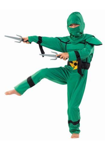 Αποκριάτικη Στολή Νίντζα Μαχητής Πράσινος