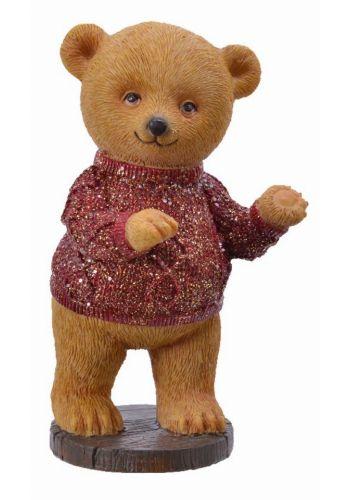 Χριστουγεννιάτικο Ξύλινο Διακοσμητικό Αρκουδάκι (15cm)