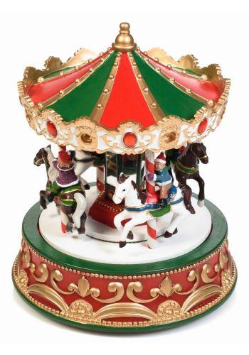 Χριστουγεννιάτικο Διακοσμητικό Καρουζέλ με LED (22cm)