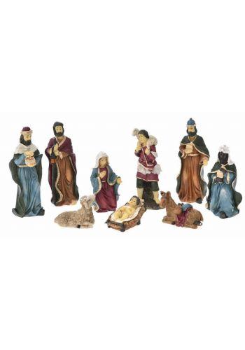 Χριστουγεννιάτικο Σετ Φάτνης με 9 Κεραμικές Φιγούρες (14cm)