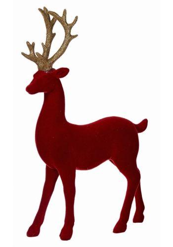 Χριστουγεννιάτικος Διακοσμητικός Τάρανδος Κόκκινος (31cm) - 1 Τεμάχιο