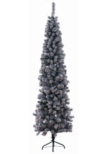 Χριστουγεννιάτικο Χιονισμένο Στενό Δέντρο SUPER SLIM SNOW(2,25m)
