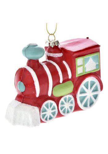 Χριστουγεννιάτικο Τρένο Κόκκινο (9cm) - 1 Τεμάχιο