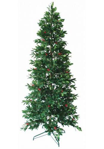 Χριστουγεννιάτικο Στενό Δέντρο με γκι - 2.10m