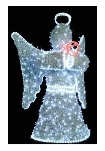 Χριστουγεννιάτικος Φωτιζόμενος Ακρυλικός Άγγελος με LED (120cm)Χριστουγεννιάτικος Φωτιζόμενος  Άγιος Βασίλης  (160cm)